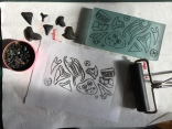 Mini-monoprint technique I created
