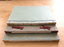 Three Japanese stab binding books.