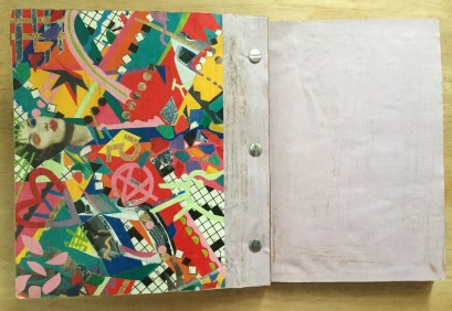 Art school artist book project. This shows how it was bound.