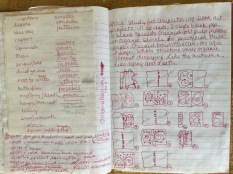 My sketches and journal entries from time spent in Prospect Park were the inspiration for my Eco-Mandalas, as well as my book artist book, Prospect Park Illuminated. Here, I am working out the book pacing.