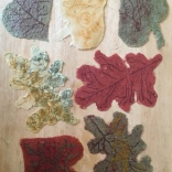 Encaustic Paper Leaves