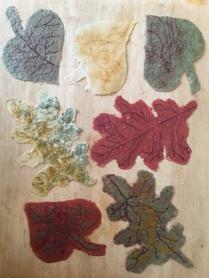 Encaustic Paper Leaves