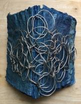 book arts, indigo, artist book, handmade paper, indigo, brooklyn artist