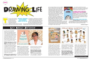Images were provided or created in Illustrator. (We had no art budget to speak of at this magazine.)