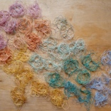Hand-knotted vintage thread