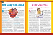 Spread from multi-page special section. Created with the very modest cost of clipart, which I manipulated in Illustrator. (We had no art budget to speak of at this magazine.)