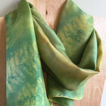 Visit VictoriaBDesignShop on Etsy to purchase hand-dyed, hand-painted silk scarves from victoriab:design!