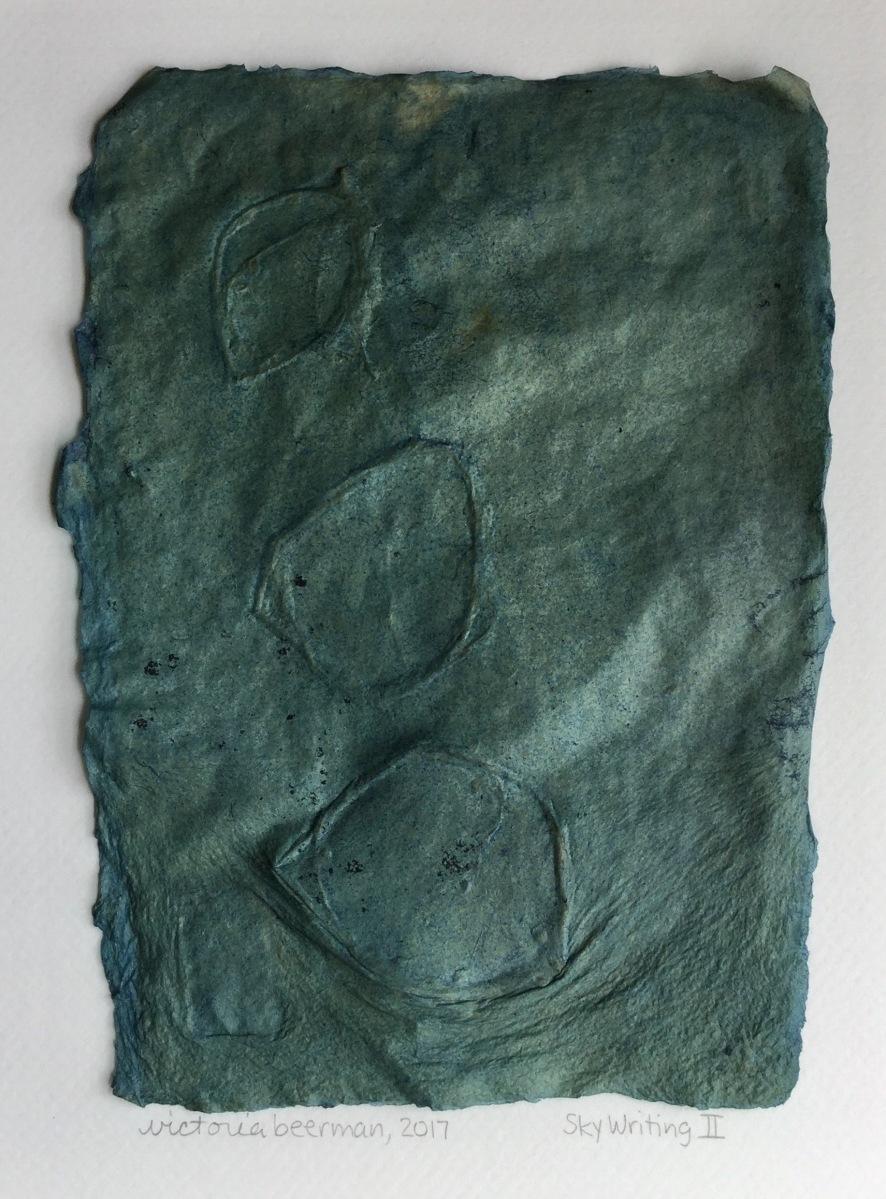 Brooklyn artist, indigo, handmade paper