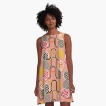 a-line dress crochet croquet_victoriabdesign on Redbubble