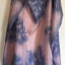 Blue Pink Square Silk Scarf Leaf_victoriabdesignshop_Etsy.jpg