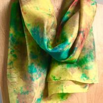 Gold Green Silk Scarf Leaf_victoriabdesignshop_Etsy.jpg