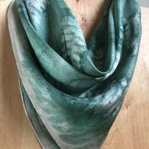 Gray Fern Square Small Silk Scarf Leaf_victoriabdesignshop_Etsy.jpg